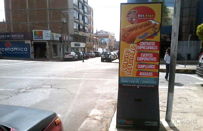 Paleta publicitaria - LOS HOT DOGS DE LA GONZÁLEZ SUÁREZ