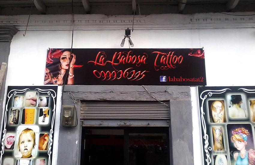 Rótulo publicitario - BABOSA TATTOO