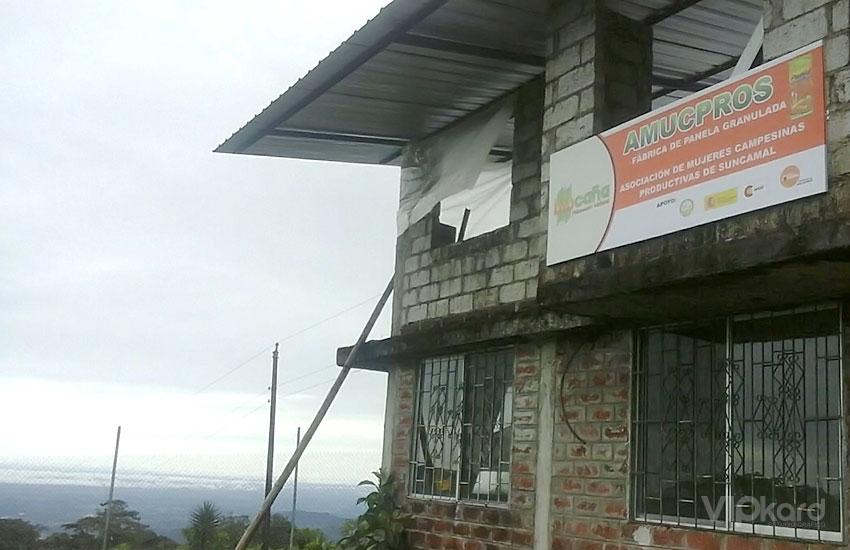 Rótulo publicitario - BIOCAÑA / CUMANDÁ