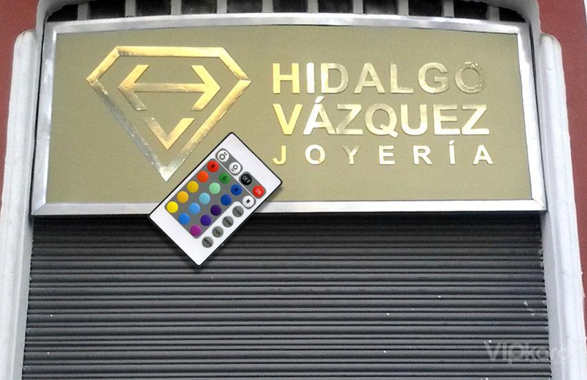 Rótulo publicitario - JOYERÍA HIDALGO VÁZQUEZ
