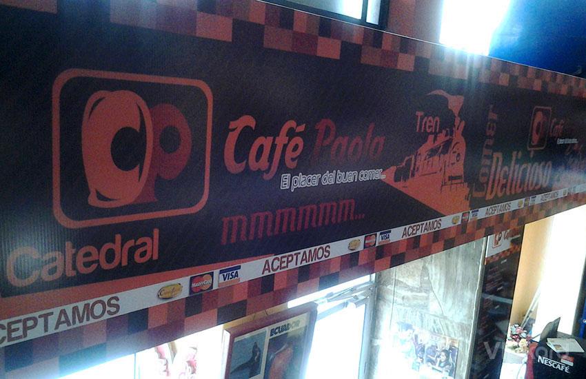 Rótulo publicitario - CAFÉ PAOLA