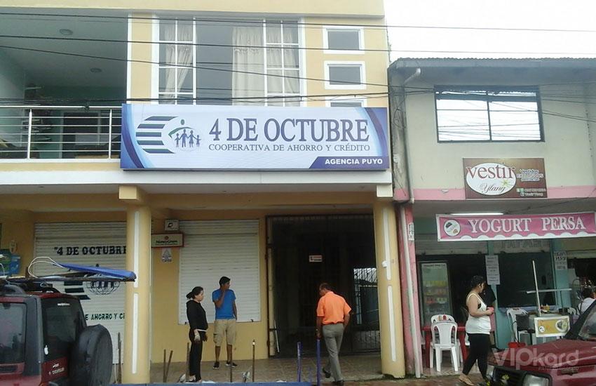 Rótulo publicitario - COOP. 4 DE OCTUBRE / PUYO