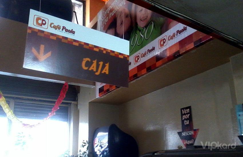 Señalética - CAFÉ PAOLA