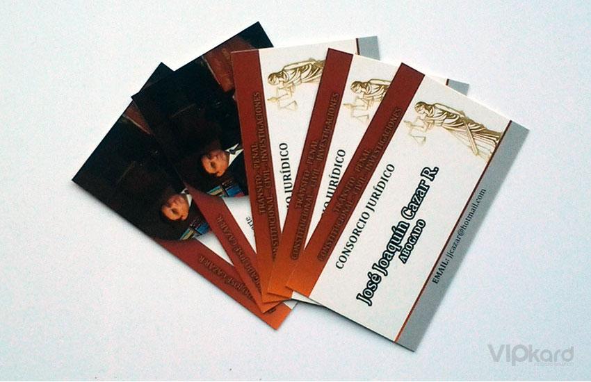 Tarjetas de presentación - ABOGADO CAZAR
