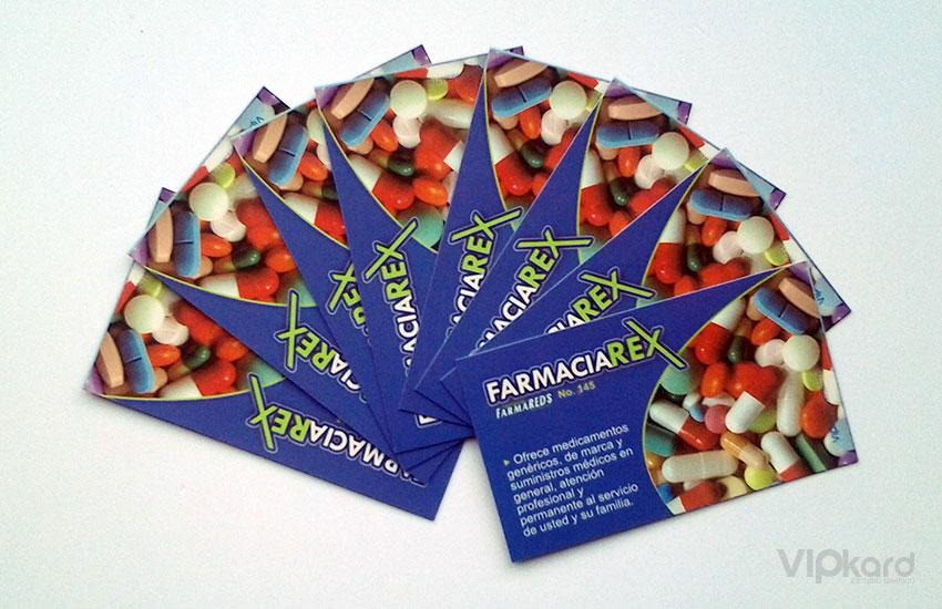 Tarjetas de presentación - FARMACIA REX