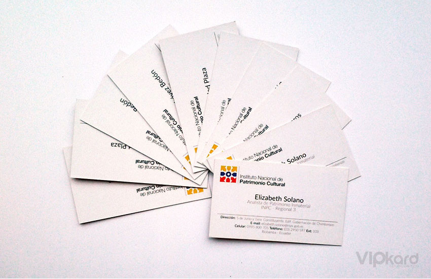 Tarjetas de presentación - INPC